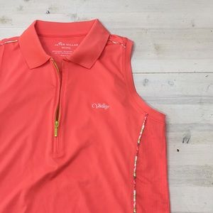 Peter Miller wicking golf sleeveless top sz M